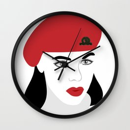 A woman soldier Wall Clock