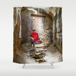 At the Barbershop Shower Curtain