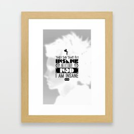 """""""Girl with the Dragon Tattoo"""" Typography Poster Framed Art Print"""