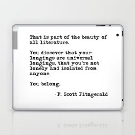 The beauty of all literature - F Scott Fitzgerald Laptop & iPad Skin