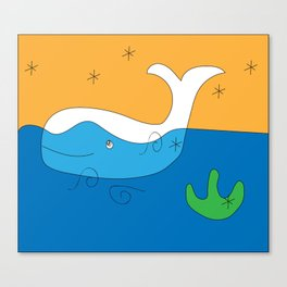 whale flag Canvas Print