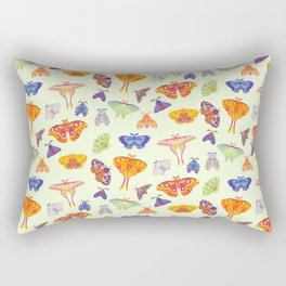 Moth - pastel Rectangular Pillow