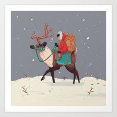Winter Travel Art Print