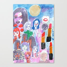Moon Womans Squad Canvas Print