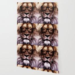 Lion Hipster art Wallpaper