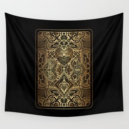 Ornament Gold Playing Card Wall Tapestry