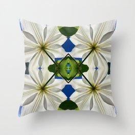 Clematis Solaris Throw Pillow