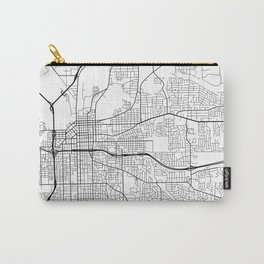 Montgomery Map, USA - Black and White Carry-All Pouch