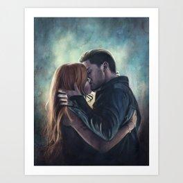 Clary & Jace Art Print
