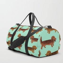 Long-haired dachshunds Duffle Bag