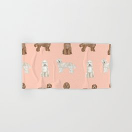 Labradoodle dog breed pet pattern labradoodles Hand & Bath Towel