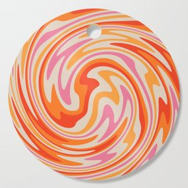 70s Retro Swirl Color Abstract Cutting Board