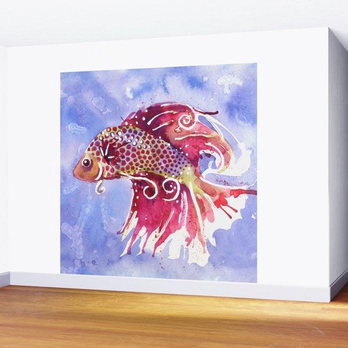 Fish Swirl Wall Mural