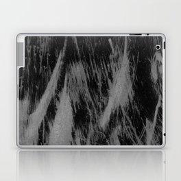 Gray black watercolor brushstrokes abstract pattern Laptop & iPad Skin