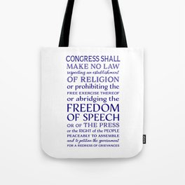 Defend Your Freedom of Speech Tote Bag