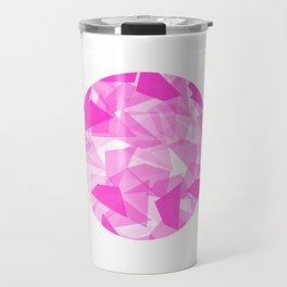 Pink Geo Circle Travel Mug