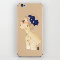 Lady in Blue iPhone & iPod Skin