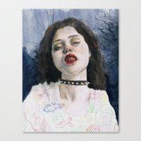 sky ferreira Canvas Prints featuring Sky Ferreira II by Jethro Lacson
