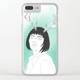 Whimsical Deer Women Clear iPhone Case