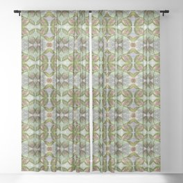 Coleus Leaves Pattern Sheer Curtain