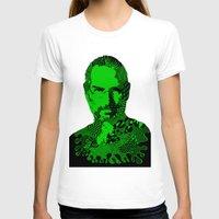 steve jobs T-shirts featuring Steve Jobs green by Rebecca Bear