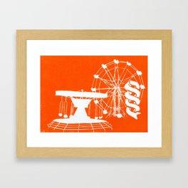 Seaside Fair in Orange Framed Art Print