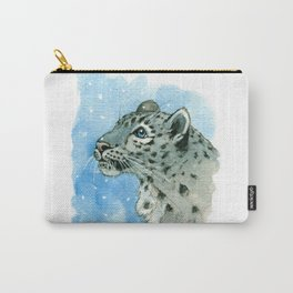 Snow Leopard & snowflakes 860 Carry-All Pouch