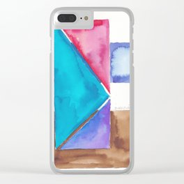 180818 Geometrical Watercolour 8| Colorful Abstract | Modern Watercolor Art Clear iPhone Case