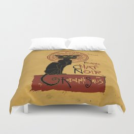 Le Chat Noir Duvet Cover