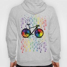 Rainbow raindrops Hoody
