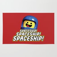 spaceship Area & Throw Rugs featuring Spaceship! by D-fens