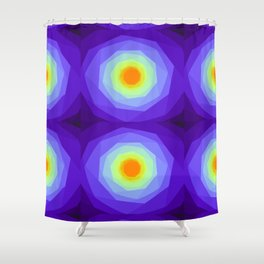 Purple Blossoms Shower Curtain