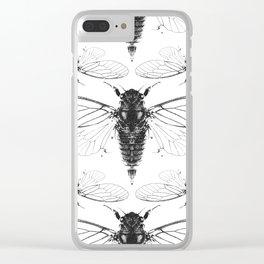 Divine Cicadas Clear iPhone Case