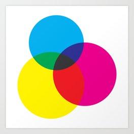 CMYK Mixer Art Print