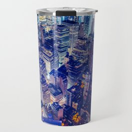 Colorful New York City Skyline Travel Mug