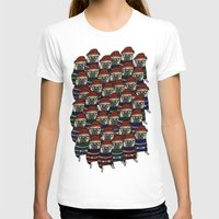 pugs T-shirts featuring Hipster Pugs by Adam Lindfors