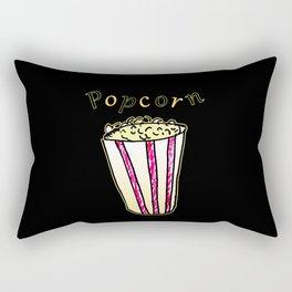 Popcorn: Black Rectangular Pillow