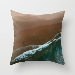 dark times by the shore Throw Pillow