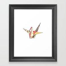Floral Origami Framed Art Print