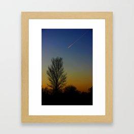 Shoot across the sky.... Framed Art Print