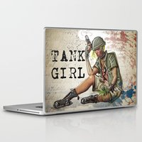 tank girl Laptop & iPad Skins featuring Tank Girl by Joe Badon