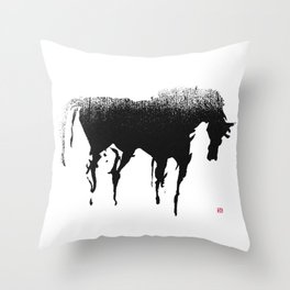 Horse (Gentle Ghost) Throw Pillow