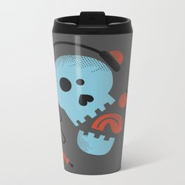Calavera rockera / Rocking skull Metal Travel Mug
