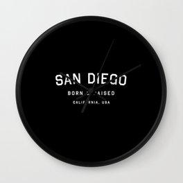 San Diego - CA, USA (Arc) Wall Clock