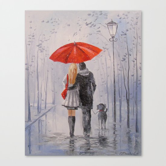 After the rain in the Park Canvas Print