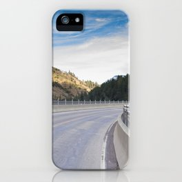 Pulga Bridge over the Feather River, HWY 70, Northern California iPhone Case