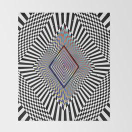 Matrix processor. Holographic hypnotic pattern. Throw Blanket