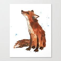 Fox art, fox lover gift, fox painting, fox illustration, wildlife art Canvas Print