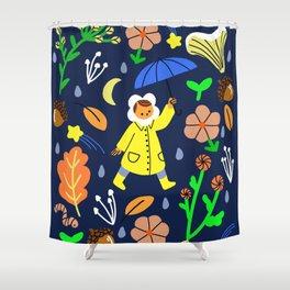 Rainy Walk Shower Curtain