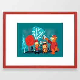 Drinking Buddies Framed Art Print